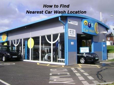How to Find Nearest Car Wash Location