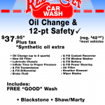 Red carpet OilChange coupon