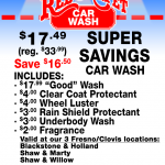 mSuperSavings red carpet car wash coupons
